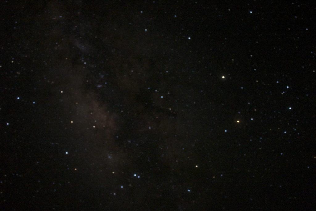 なかた荘屋上からの夜空